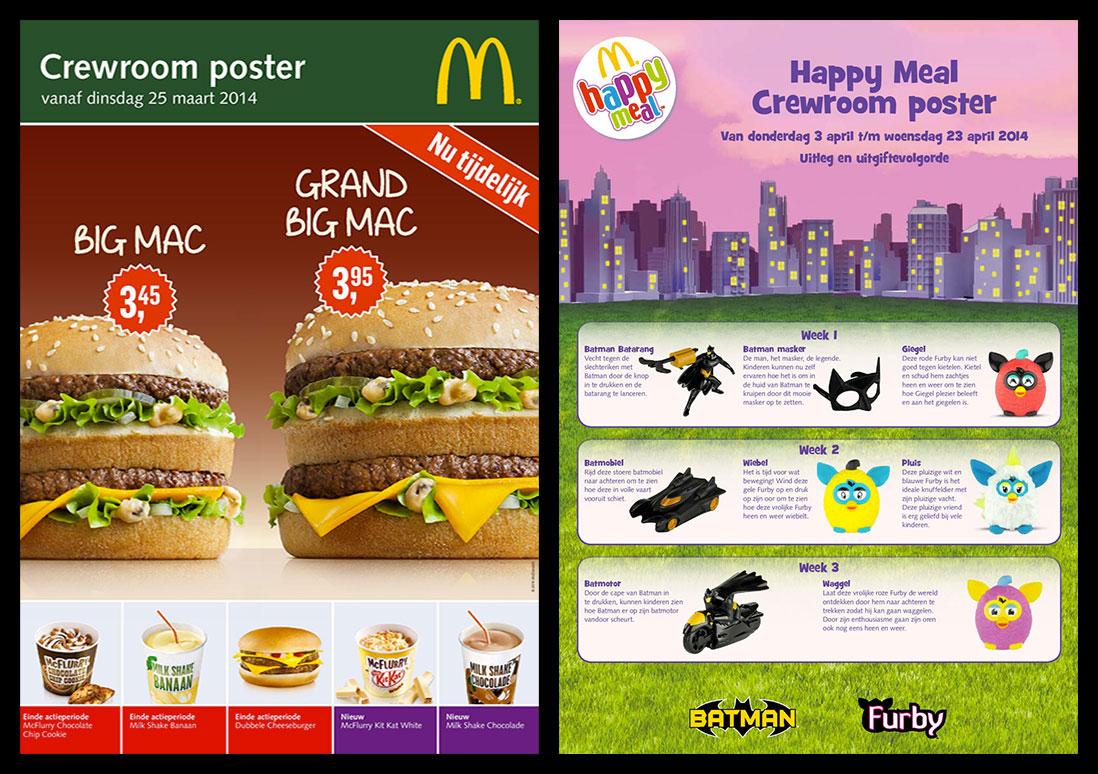 McDonald's informeert medewerkers en gasten met narrowcasting over nieuws, acties en meer
